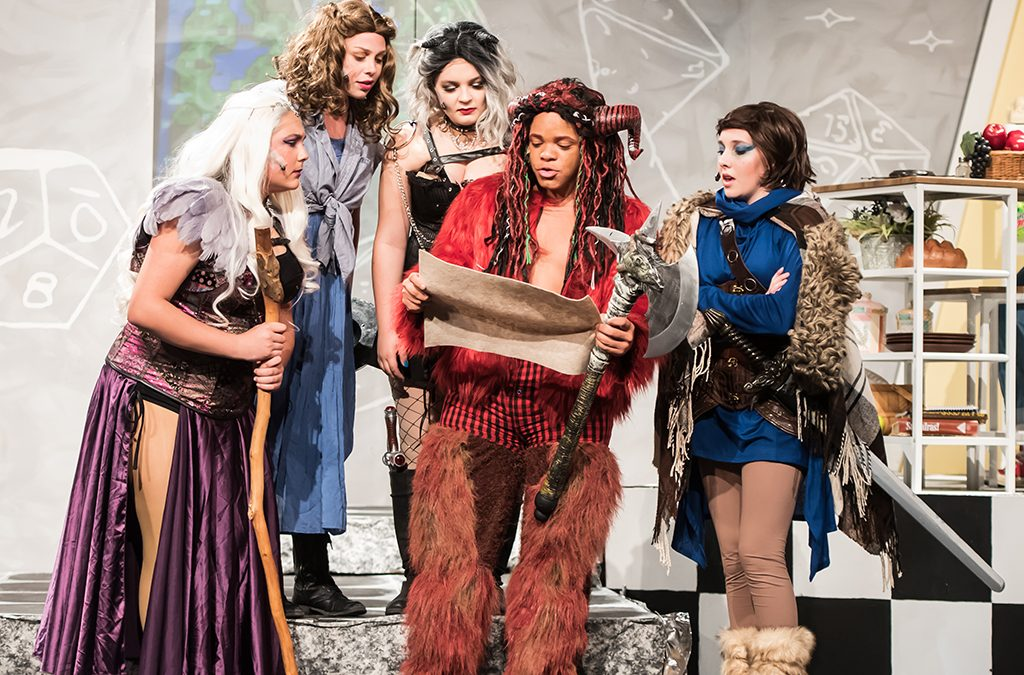 The cast of St. Charles High School's production of She Kills Monsters.