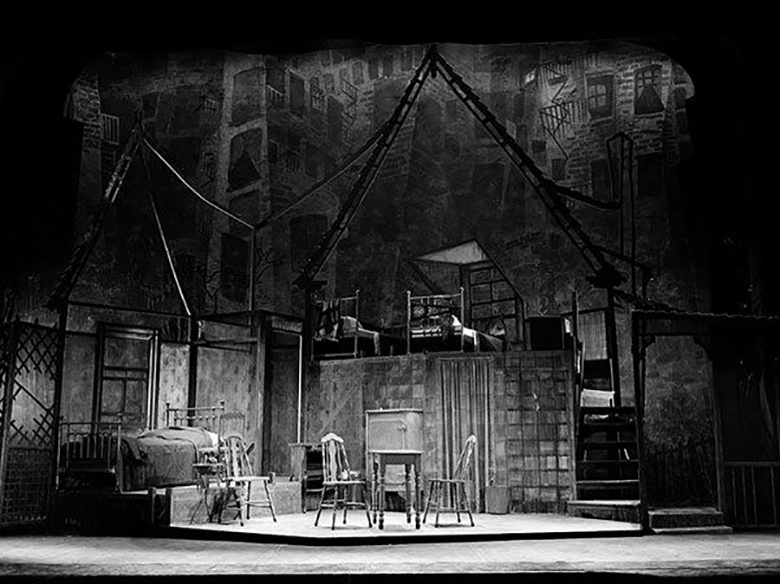 Photo of Jo Mielziner's stage design