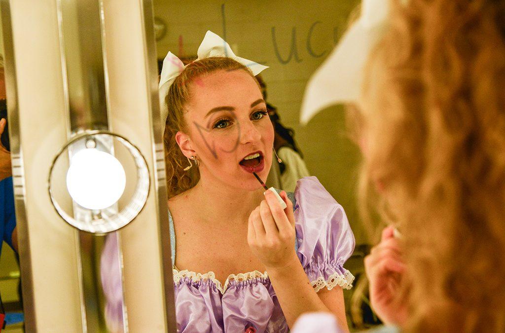 Allowing plenty of time to get into costume and put on makeup prevents a nervous rush.