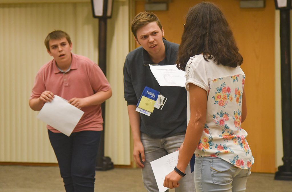 High school students audition for a play.