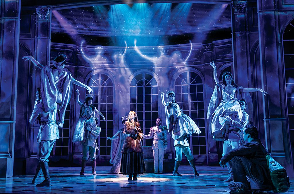Lila Coogan and company in the national tour of Anastasia.