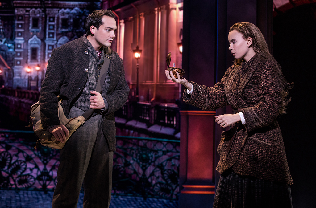 Stephen Brower and Lila Coogan in the national tour of Anastasia.