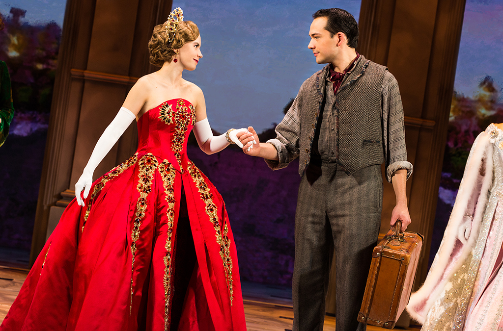 Lila Coogan and Stephen Brower in the national tour of Anastasia. Photo by Evan Zimmerman/MurphyMade.