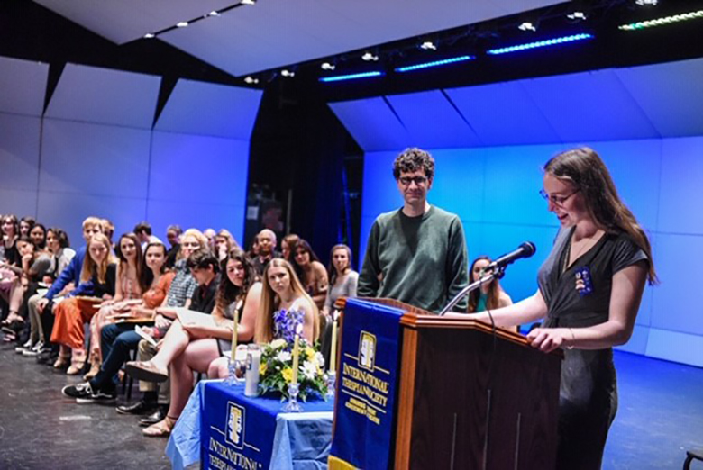 As an Honorary Thespian of Troupe 4958, John Cariani distributed awards.
