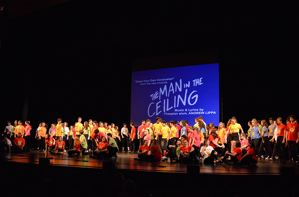 "Andrew Lippa's ""Draw Your Own Conclusion"" was the closing number of the 2019 International Thespian Festival opening show."