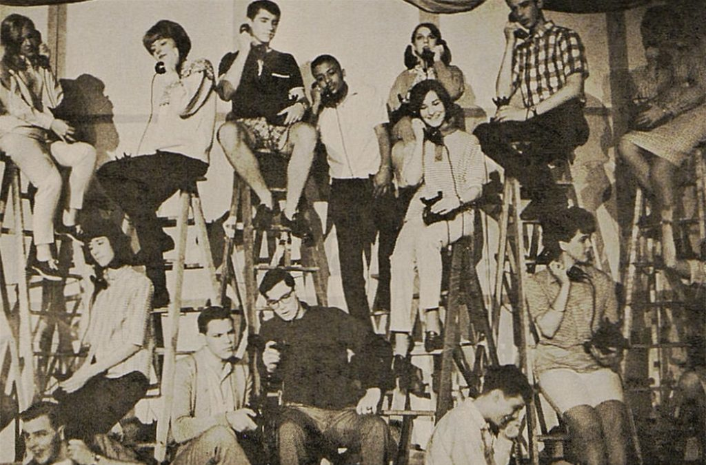 The cast of the 1966 Frankfurt American High School production of Bye Bye Birdie.