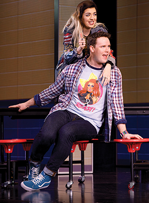 Barrett Wilbert Weed and Grey Henson in Mean Girls.