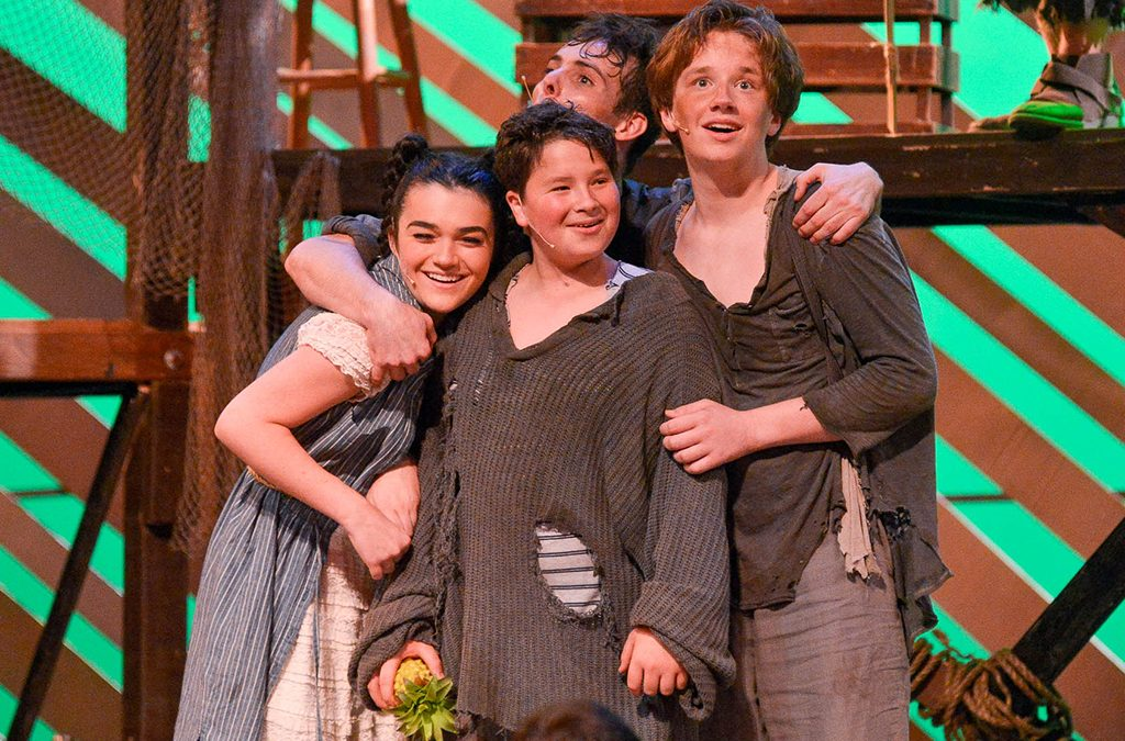 Spatial proximity can reveal a lot about character relationships, like the friendship among Molly and the orphans in Peter and the Starcatcher.