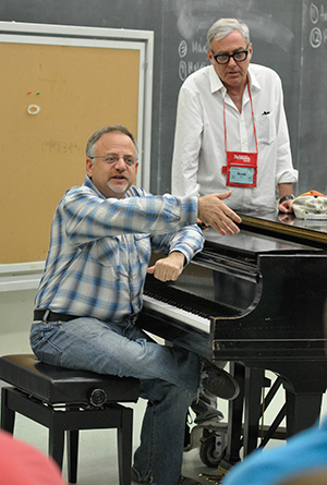 Marc Shaiman and Scott Wittman lead a workshop at the 2014 International Thespian Festival.