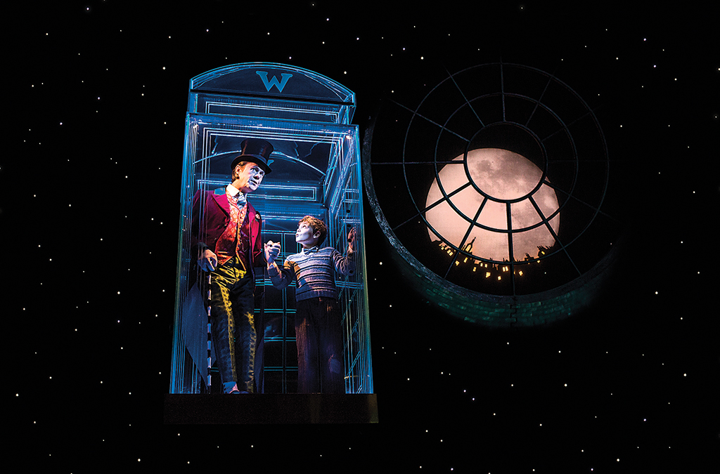 Alex Jennings and Oliver Finnegan in Charlie and the Chocolate Factory in London.