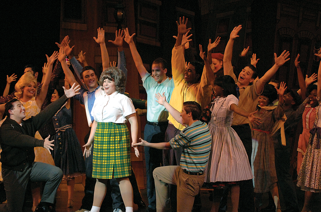 The national high school cast in Hairspray at the 2008 International Thespian Festival.
