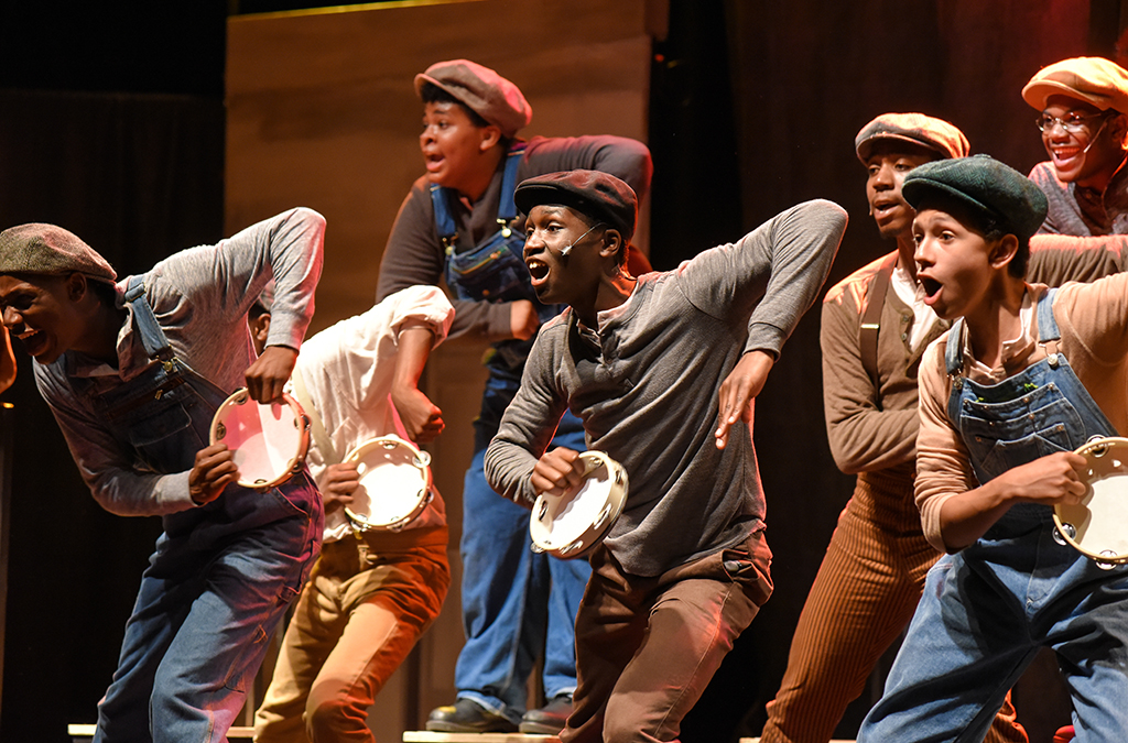 The cast of the Bradford High School production of The Scottsboro Boys.