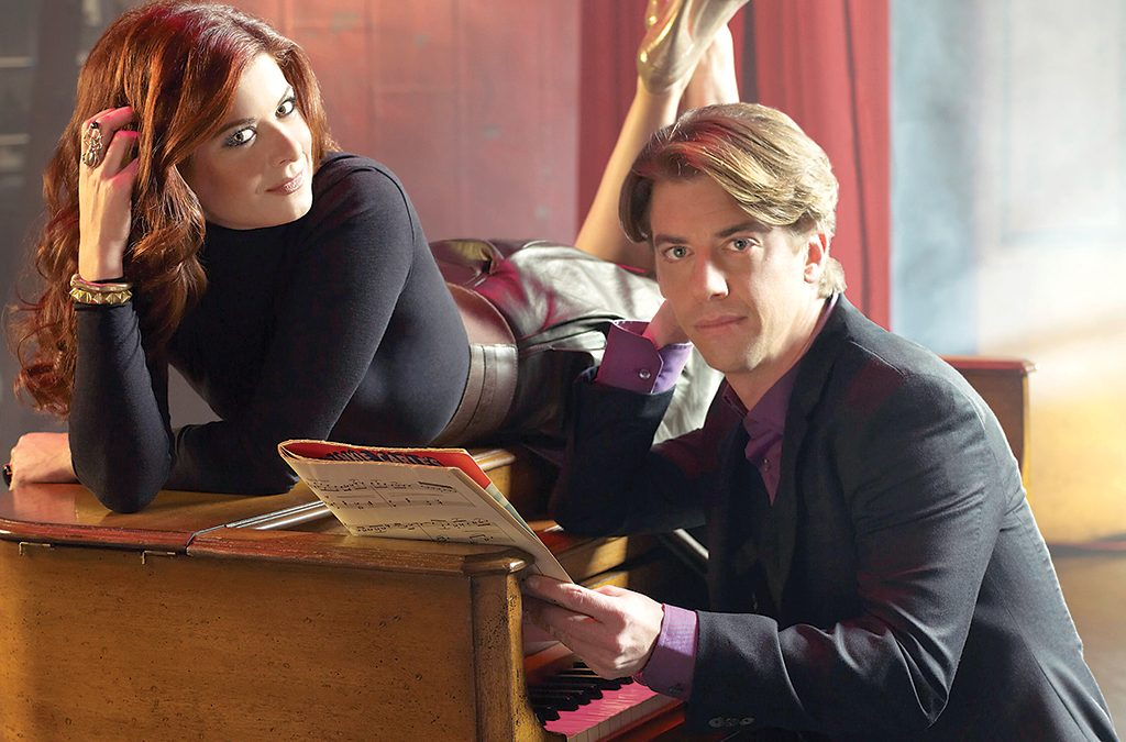 Debra Messing and Christian Borle in Smash.