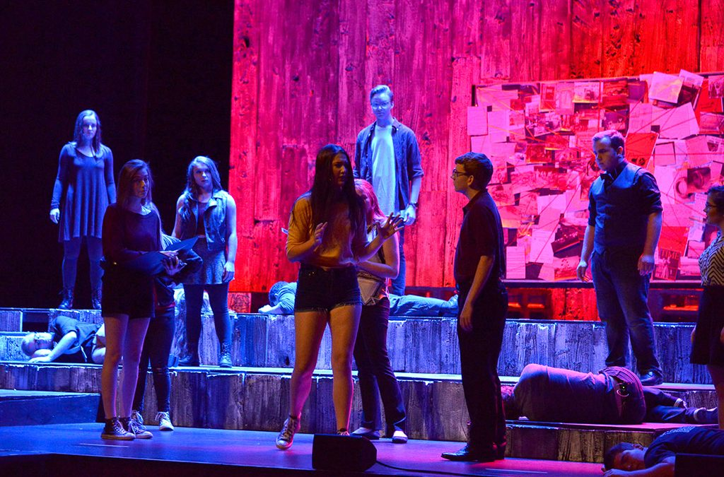 Photo from the 2018 International Thespian Festival production of Stephen Gregg's Trap