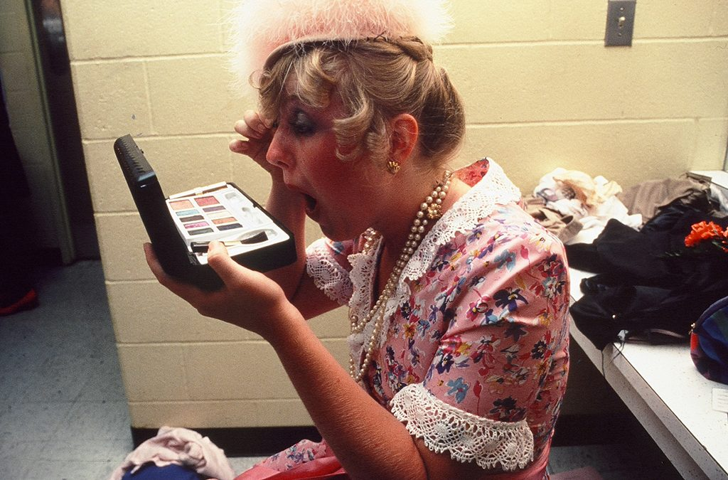 A Thespian prepares for her performance at the 1983 International Thespian Festival.