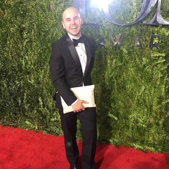 Matthew Troillett on the red carpet for the 2016 Tony Awards.
