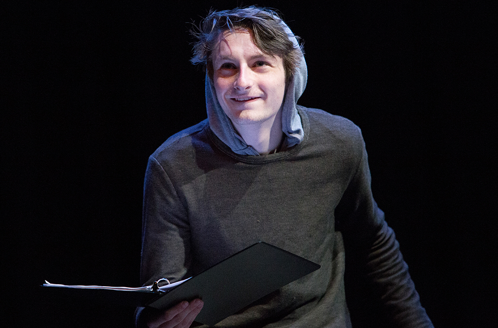 Joshua Lester in the staged reading of Ismene at the 2019 International Thespian Festival. Photo by Corey Rourke.