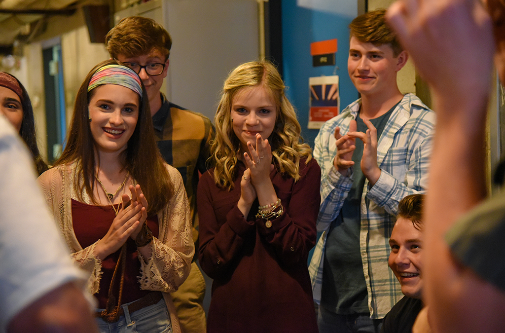 Thespians from Parkland High School (Allentown, Pa.) celebrate their journey to ITF before their final performance in 26 Pebbles.