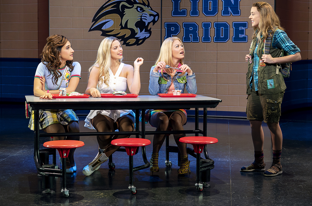 rystina Alabado, Reneé Rapp, Kate Rockwell, and Erika Henningsen in Mean Girls.