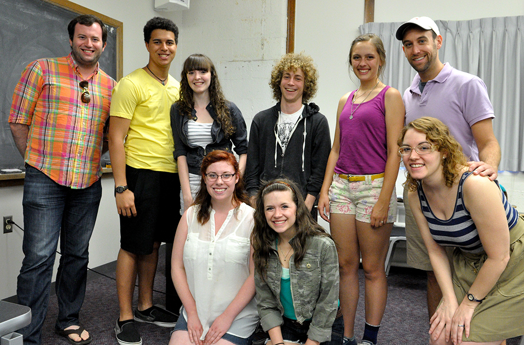 2013: Thespian Musicalworks premieres at ITF with Love at First Site. Photo by Susan Doremus.