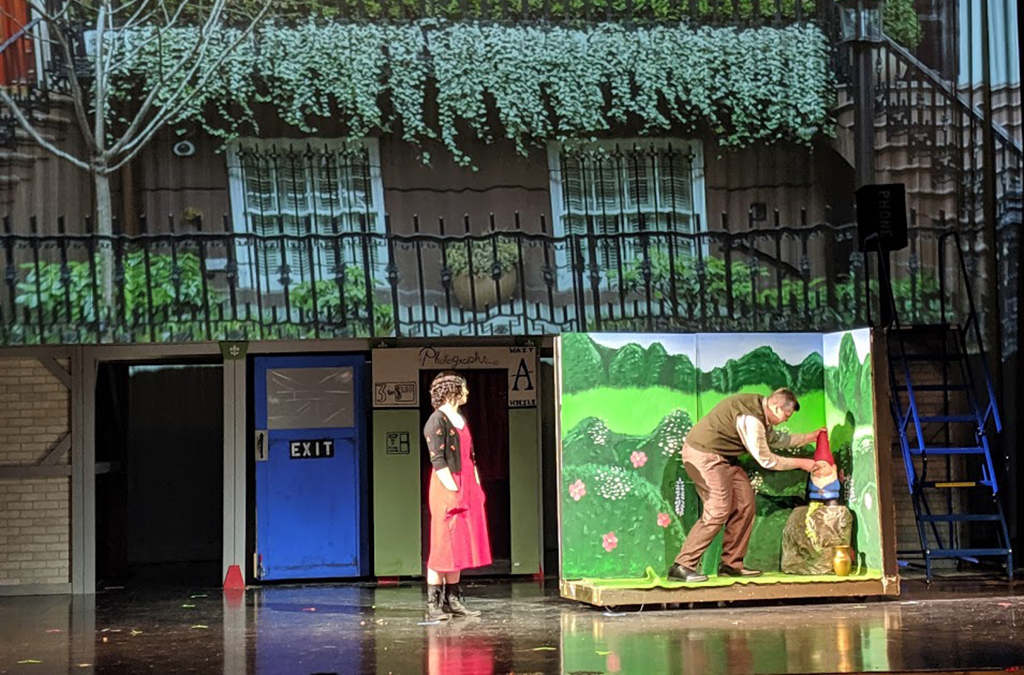 Chloe Moore and Zane Peterson in the Millard West High School (Omaha, Nebraska) production of Amelie
