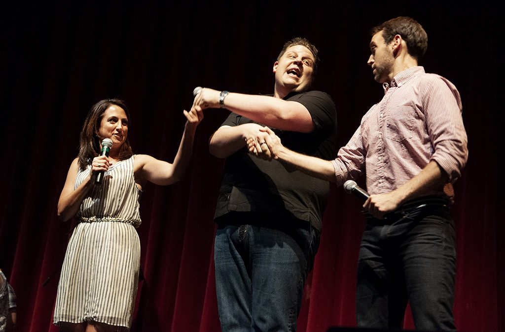 Julie Cohen Theobald, Jason Daunter, and Brian Curl at the 2012 International Thespian Festival.