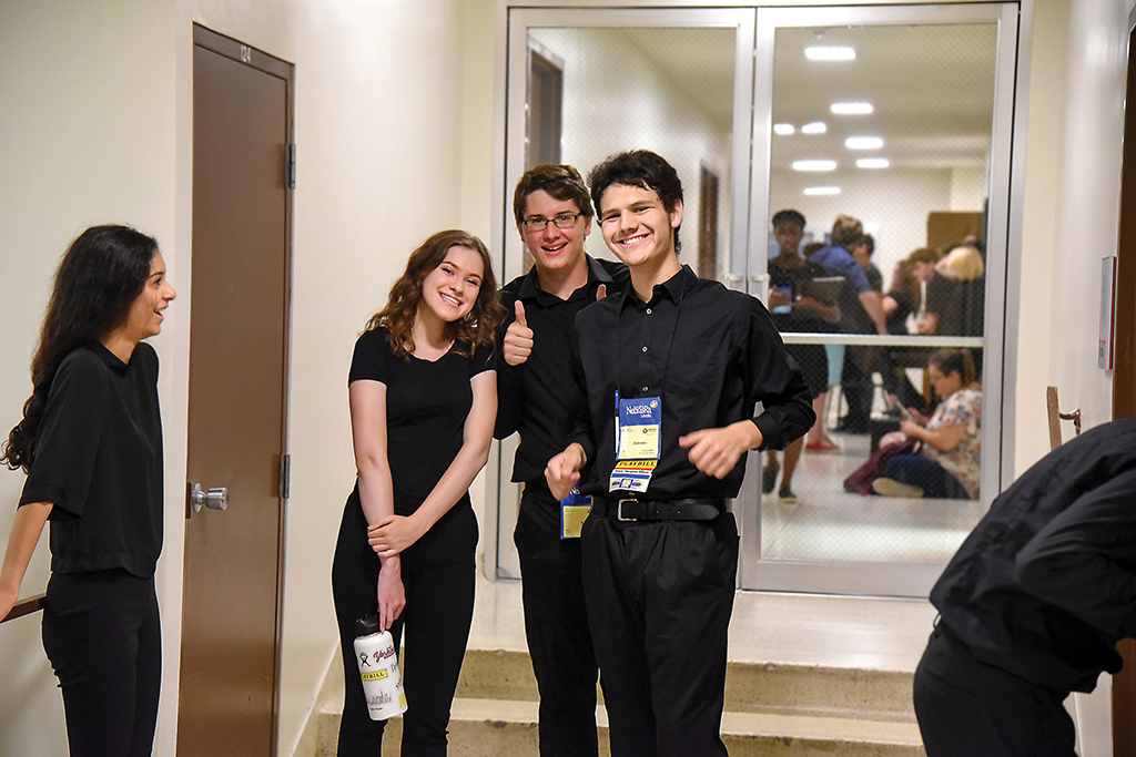 Thespians await their time to shine during the National Individual Events (now Thespys) program.