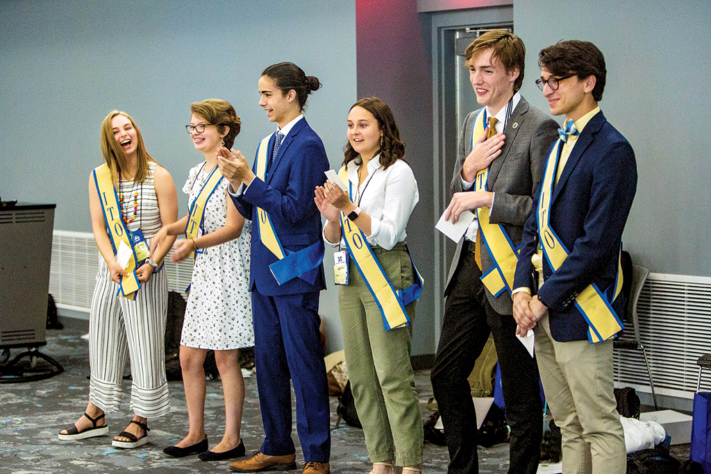 The 2019-20 International Thespian Officers were selected during the ITF Student Leadership Program.
