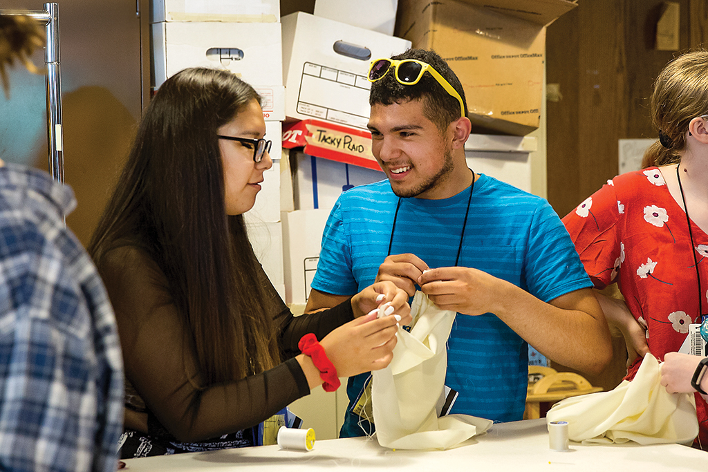 Workshops on sewing basics help Thespians take their skills to new levels.