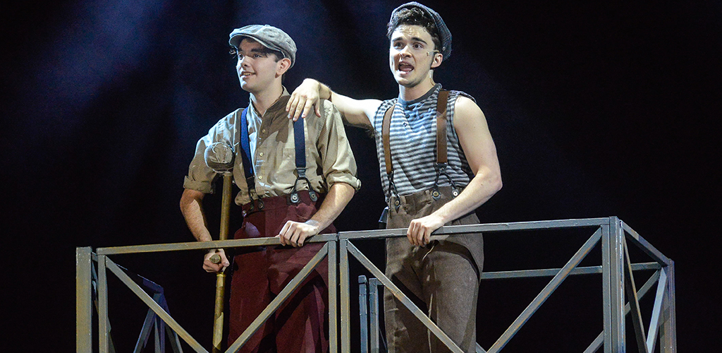Floyd Central High School's 2018 production of Newsies.