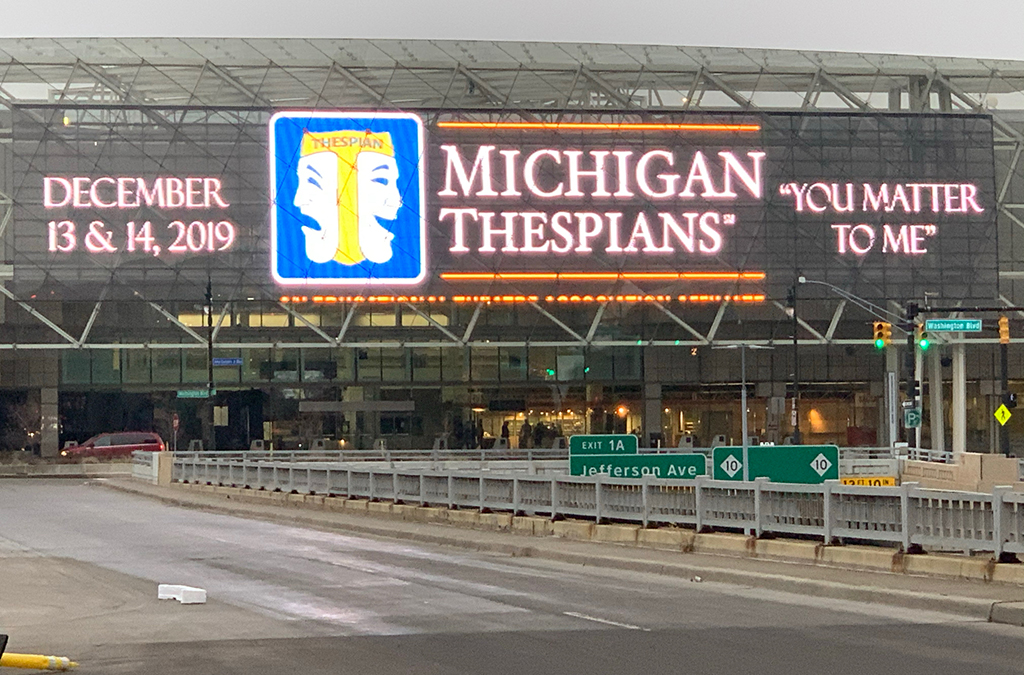 The musical Waitress provided the theme for the 2019 Michigan Thespian Festival.