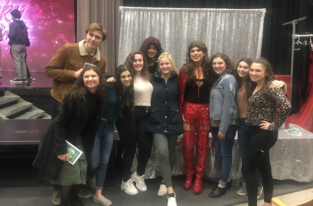 Troupe 2115's first official activity was attending the high school pilot of Kinky Boots at Truman High School.