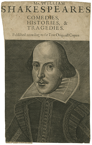Image of the title page from Shakespeare's First Folio.