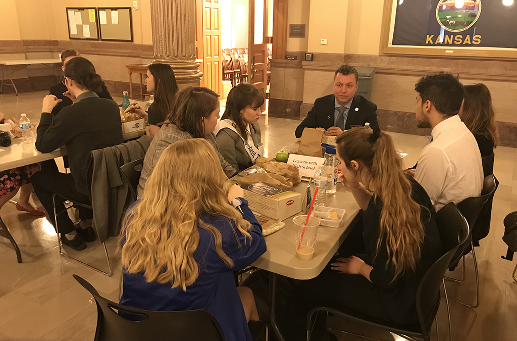 During the Lunch with Your Legislator event, Leavenworth Thespians were able to explain the importance of theatre education in their lives.