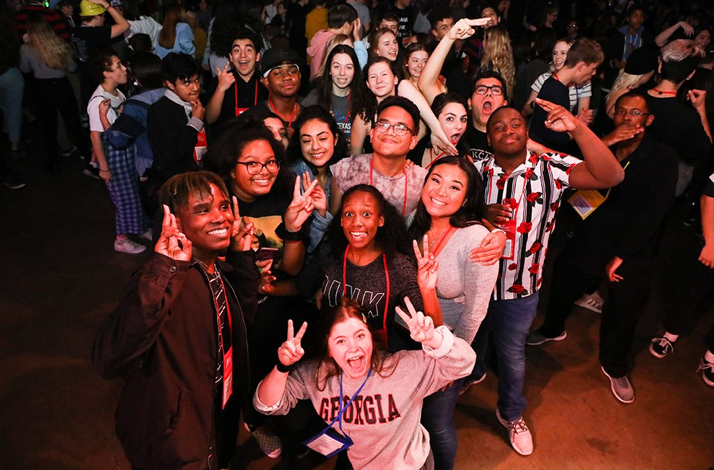 Students enjoy the late-night events at the 2019 Texas Thespians State Festival