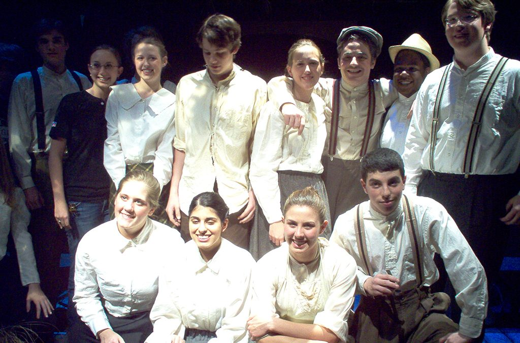 Gluck (far right) with fellow cast members of the 2006 LaGrange High School production of Spoon River Anthology.