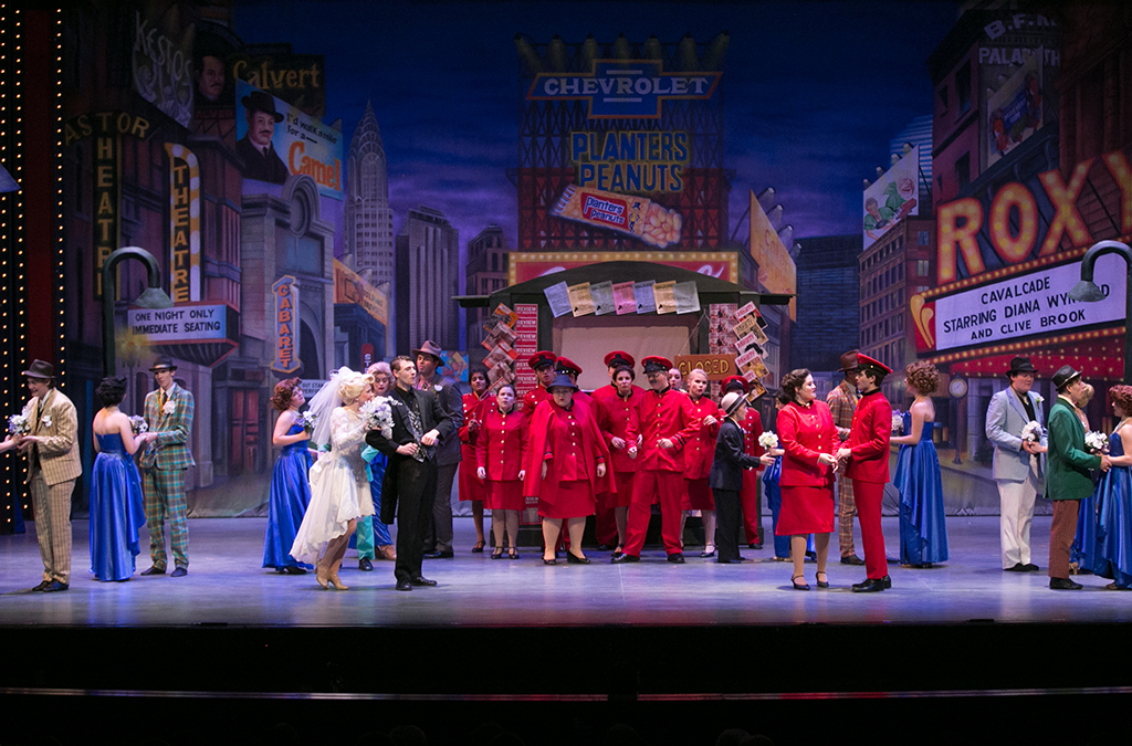 Floyd Central students captured the nostalgia of Times Square in Guys and Dolls.