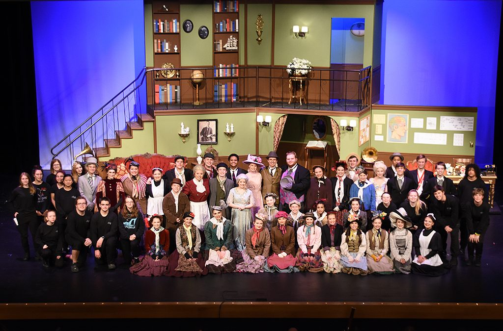 The cast and crew of My Fair Lady take a final bow.