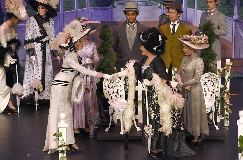 Eliza makes her society debut at Ascot in the New Albany High School production of My Fair Lady.