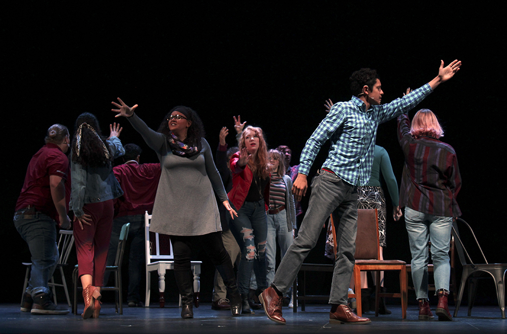 Seemingly disconnected stories tell a common tale of connectivity in the Urbana High School production of The Theory of Relativity.