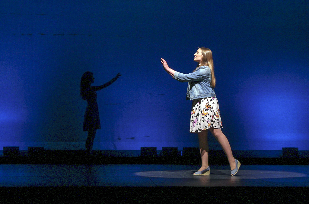 Photo from Urbana High School production of The Theory of Relativity.
