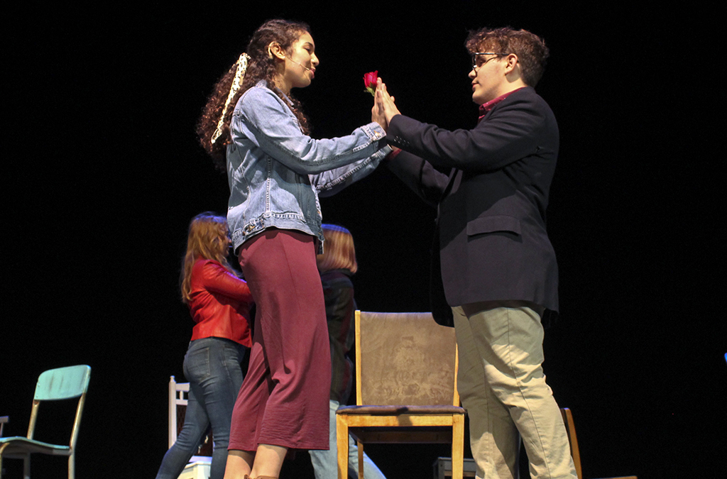 The Urbana High School production of The Theory of Relativity.