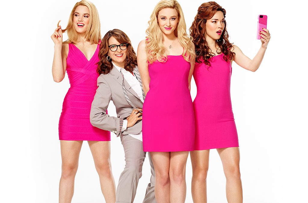 Jonalyn Saxer, Tina Fey, Mariah Rose Faith, and Megan Masako Haley of Mean Girls.