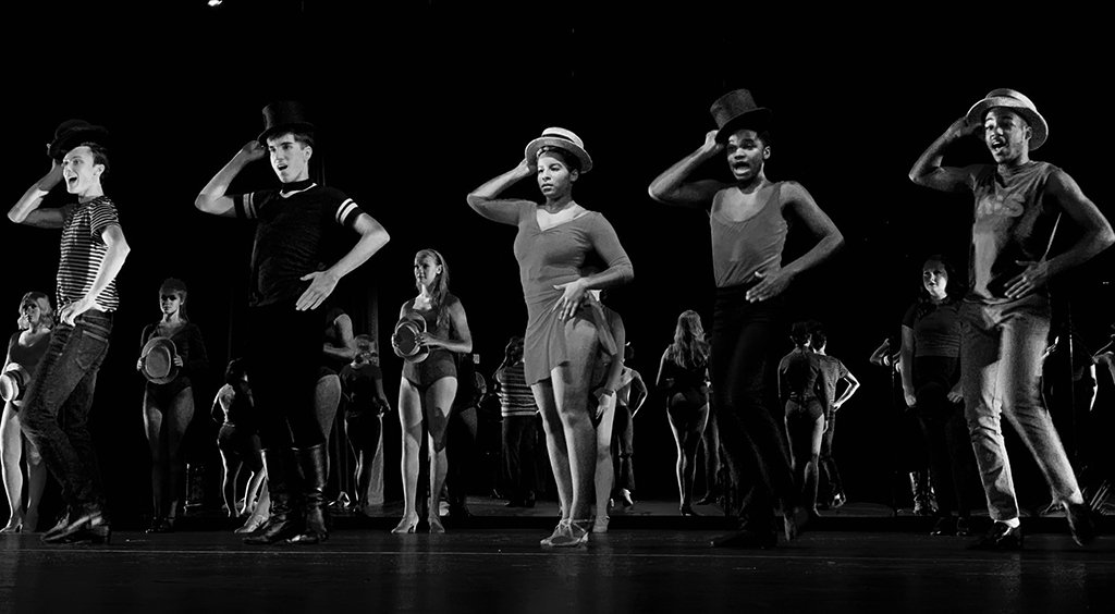 Northwest School of the Arts students paid faithful homage to the original production of A Chorus Line.