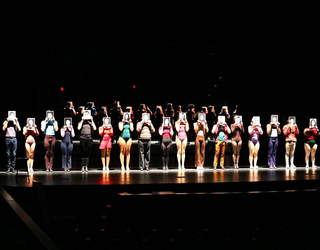 The cast of the Northwest School of the Arts production of A Chorus Line.