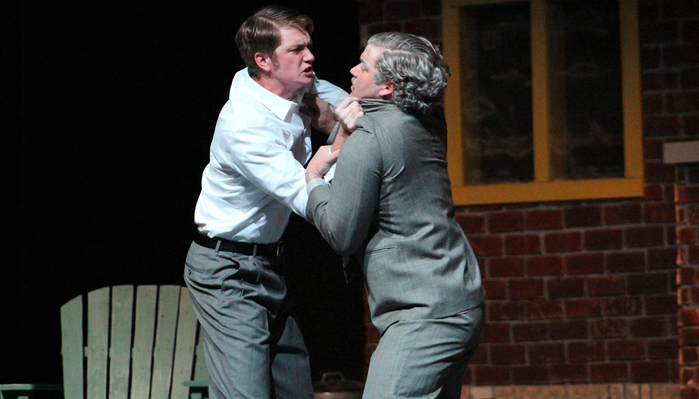 Chris Keller (Creighton Markovich) confronts his father Joe (Joseph Smith) in the Paola High School production of All My Sons.