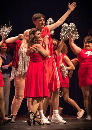 Spencer Angell as Troy Bolton in High School Musical.