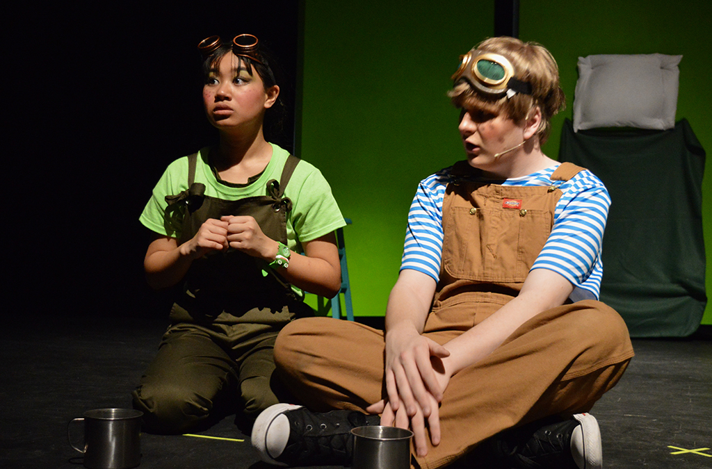Jeyna Lynn Gonzales rehearsing for A Year With Frog and Toad.