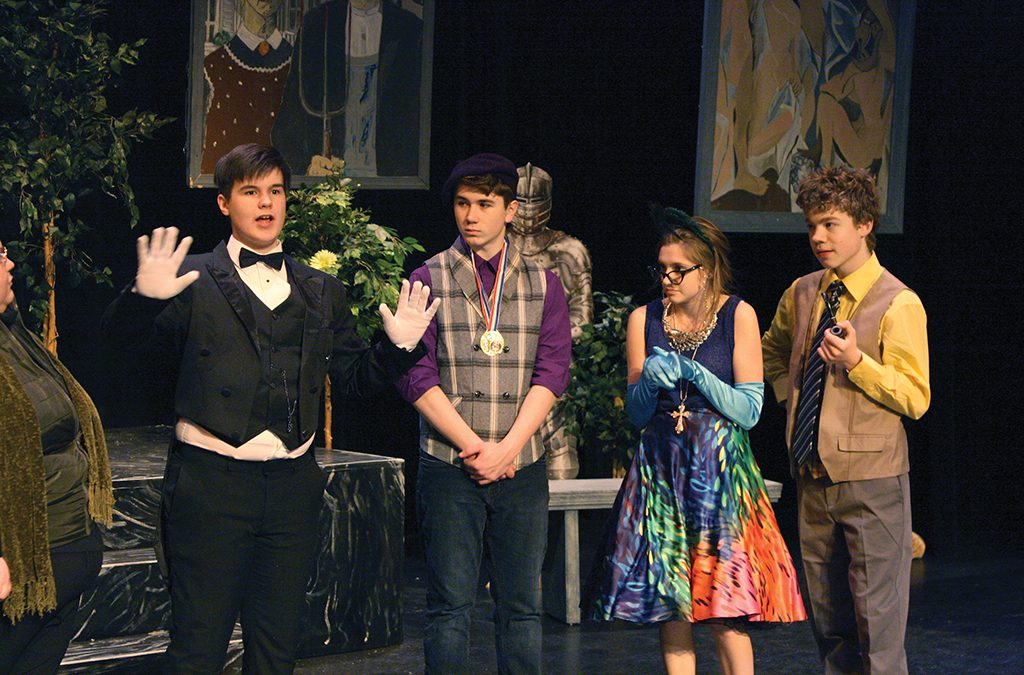 Juneau-Douglas High School Thespians performed a dress rehearsal of Clue days before performances were canceled due to the COVID-19 pandemic.