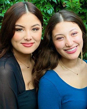 Juliana Acevedo with her sister and interviewee Karina Acevedo, a social worker.